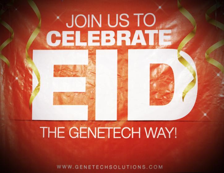 celebrating eid with Genetech