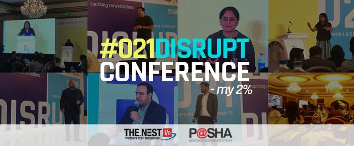 #021Disrupt Conference – My 2%