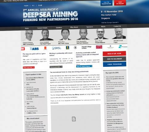 The Asia-Pacific Deep Sea Mining Summit 2016