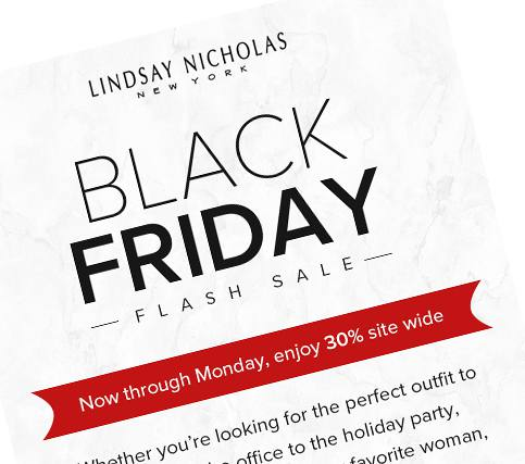 Black Friday - Flash Sale - Lindsay Nicholas