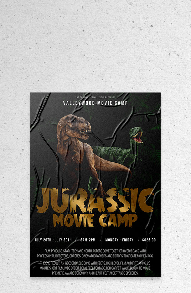 Valleywood Summer Movie Camp - Jurassic Movie Camp