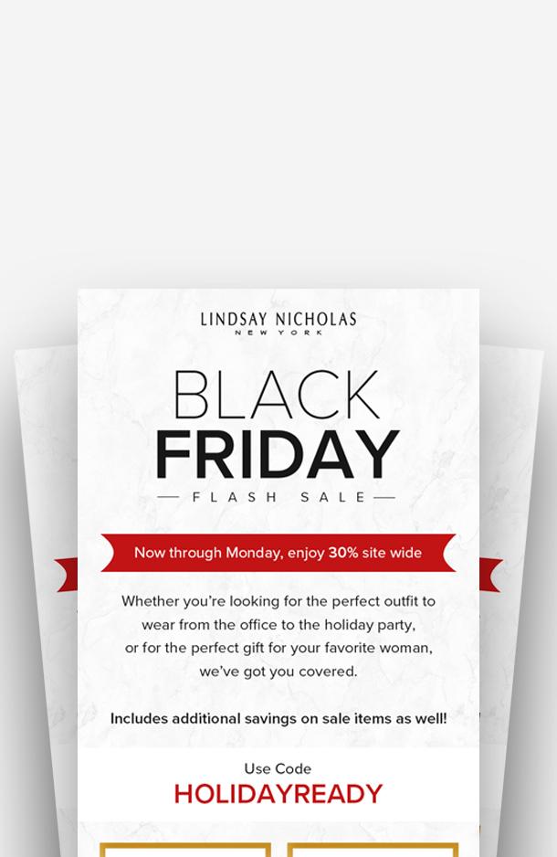 Black Friday - Flash Sale - Lindsay Nicholas