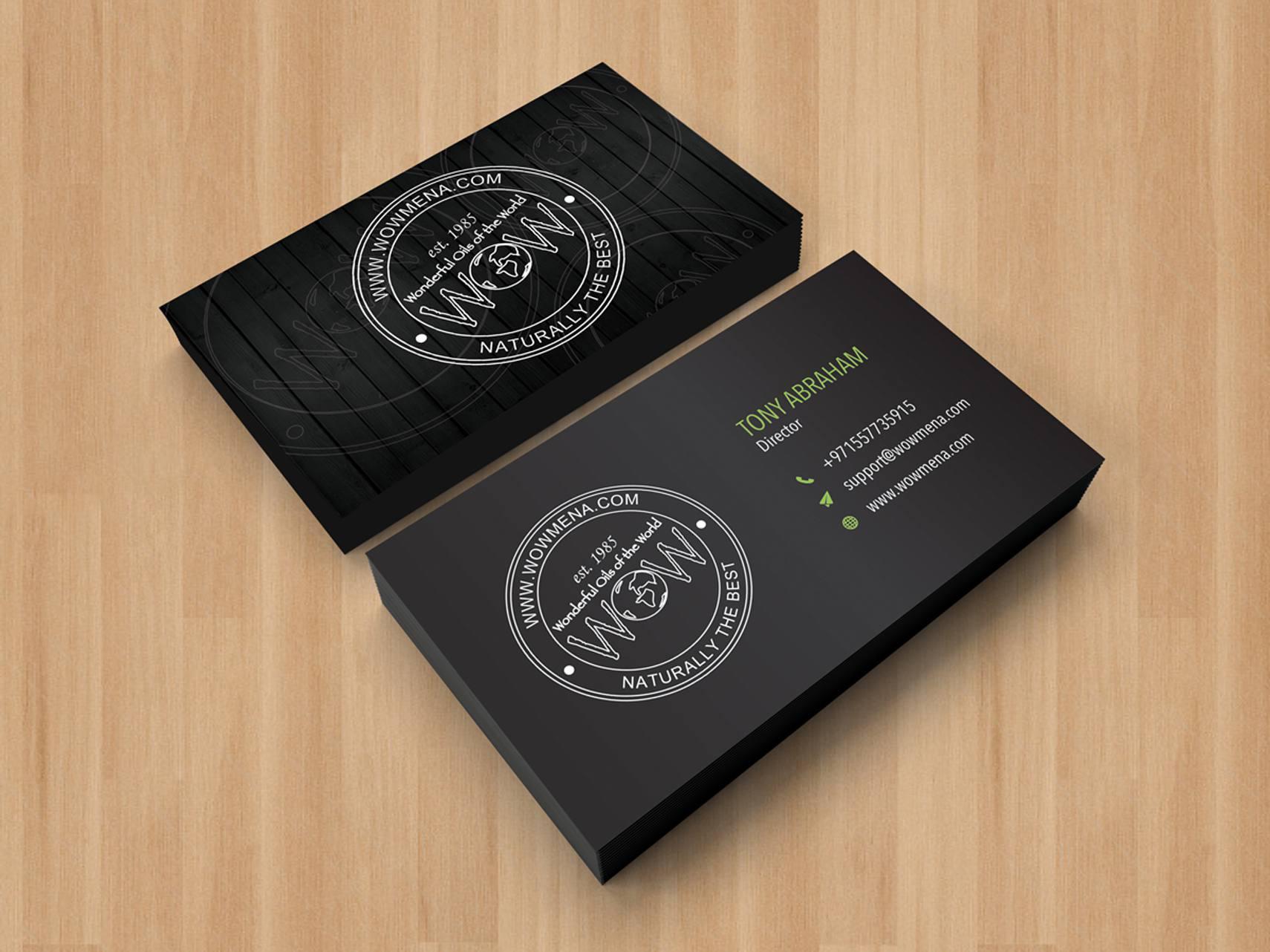 Wow Meena - Business Card - Portfolio